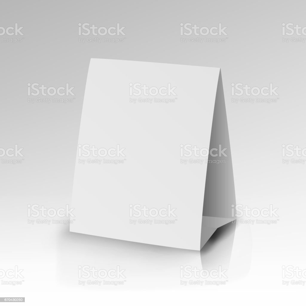 White Paper Stand Table Tag Flyer Vector vector art illustration