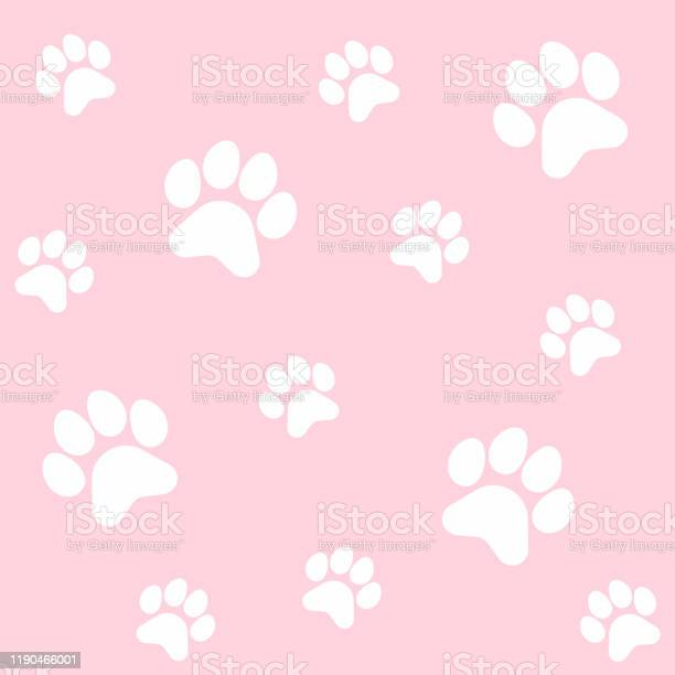 White paw footprints of dog or cat seamless pattern cute children s vector id1190466001?b=1&k=6&m=1190466001&s=612x612&h=w4bnpuizzwqaujflianhebrx4uip bk249n0kb6f3cw=