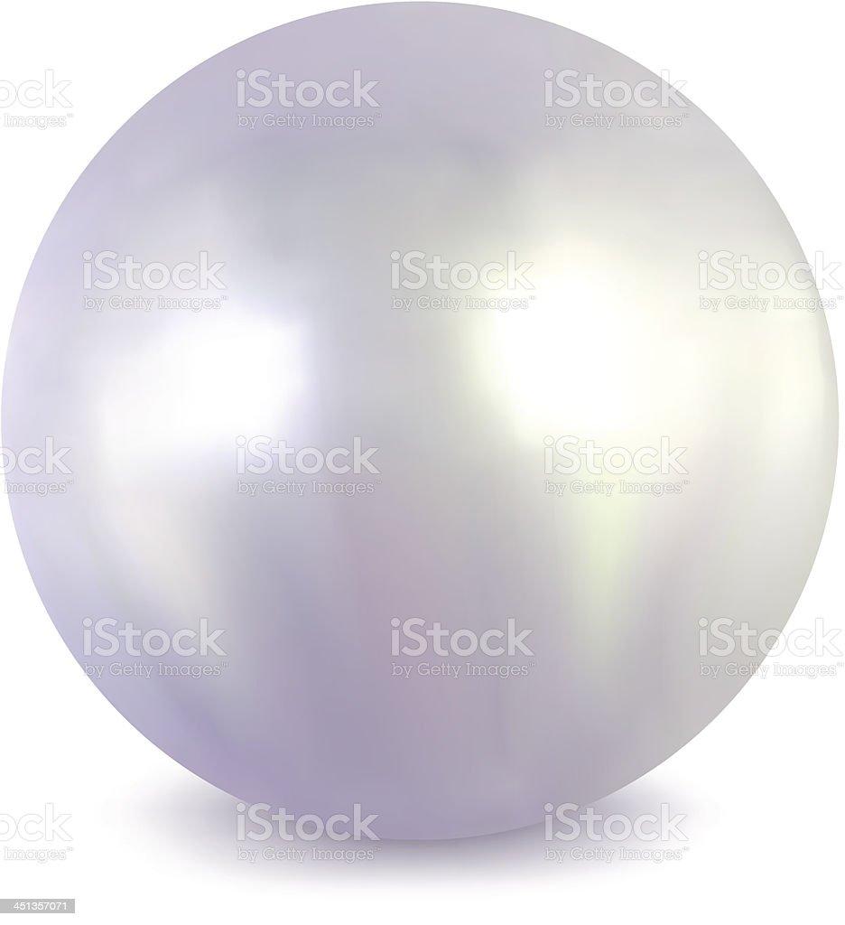 White pearl. Vector vector art illustration