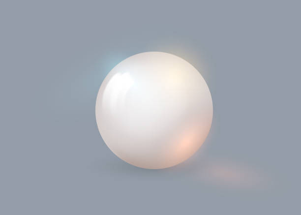 White pearl. White sphere on background. Abstract banner with white ball. Vector illustration, transparencies. White pearl. White sphere on background. Abstract banner with white ball. Vector illustration, transparencies ,effects for your design. sphere stock illustrations
