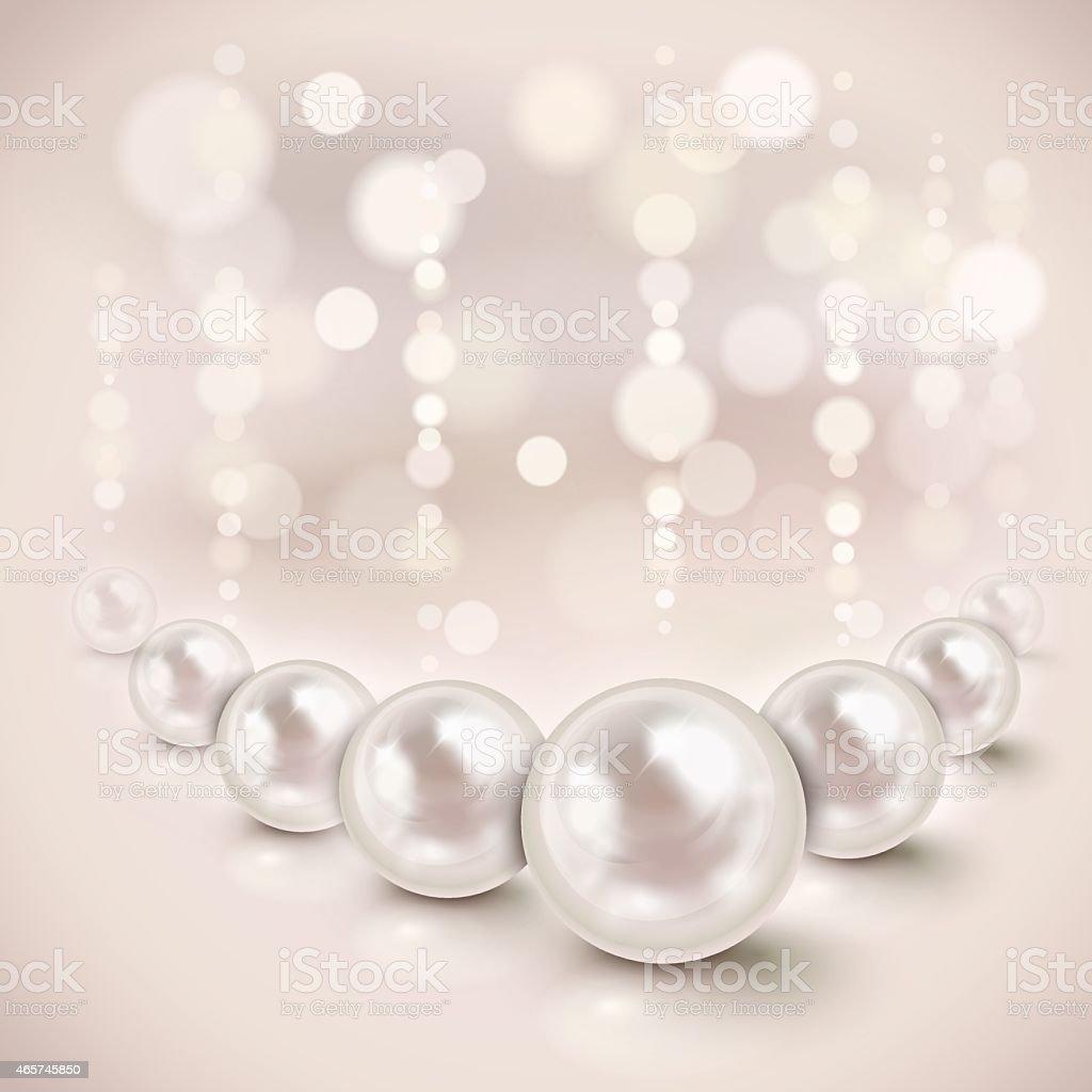 White pearls background vector art illustration