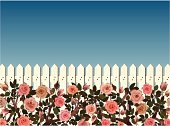 White picket fence and pink roses. Individual elements and textures. Hi-res JPG included. See my collections linked below:http://i161.photobucket.com/albums/t234/lolon5/gardens.jpg