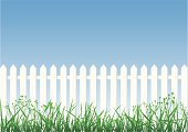 Free White Picket Fence Vector Graphic - VectorHQ.com