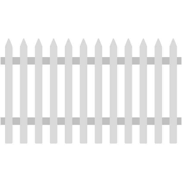 Top 60 White Picket Fence Clip Art, Vector Graphics and ...