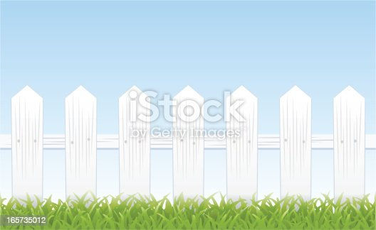White Picket Fence Stock Vector Art & More Images of ...