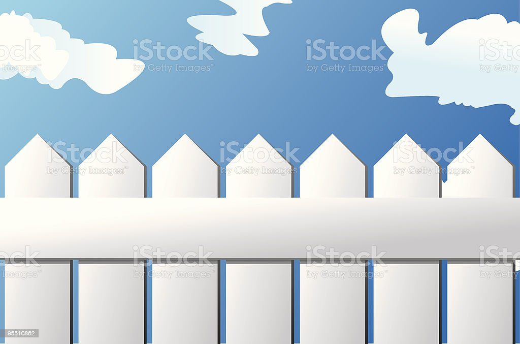 White Picket Fence royalty-free stock vector art