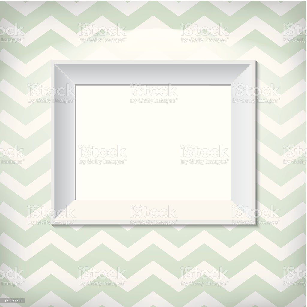 White picture frame on the wall royalty-free white picture frame on the wall stock vector art & more images of advertisement