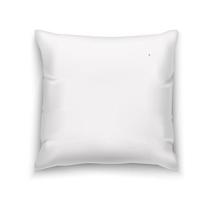 White Pillow Blank Mock Up