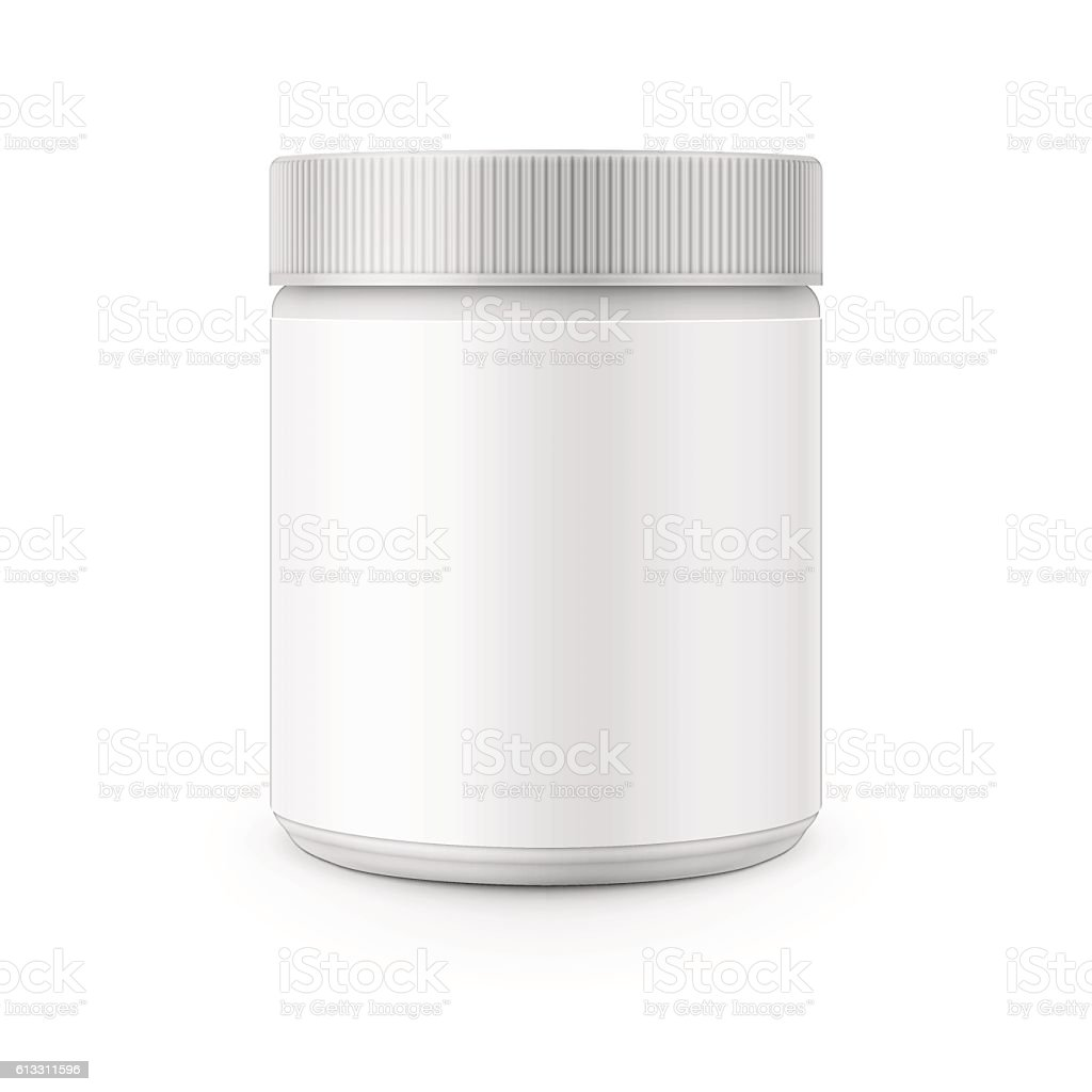 White plastic canister template for stain remover. – Vektorgrafik