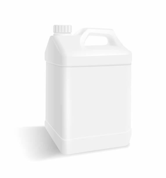 stockillustraties, clipart, cartoons en iconen met witte plastic gallon - voorraadbus