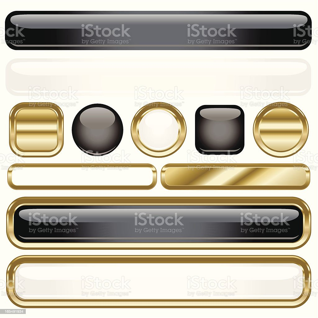 White Plastic Gold royalty-free white plastic gold stock vector art & more images of badge