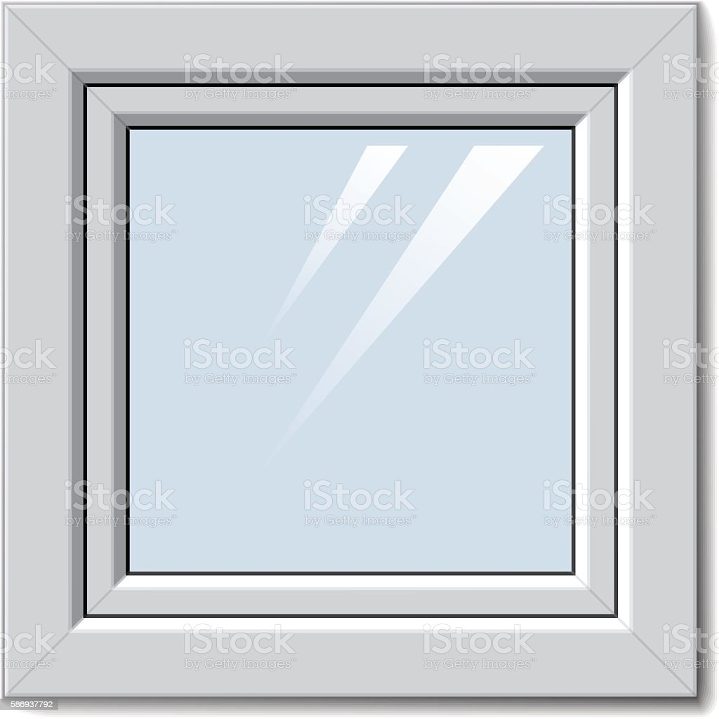 Weiße Kunststofffenster weiße kunststofffenster stock vektor und mehr bilder