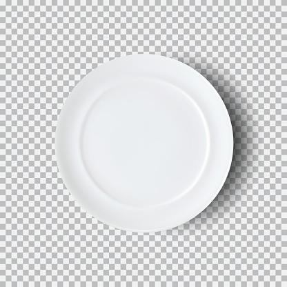 White Plate Isolated On Transparent Background - Immagini vettoriali stock e altre immagini di Alimentazione sana