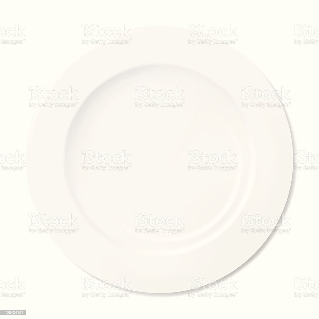 White Plate vector art illustration