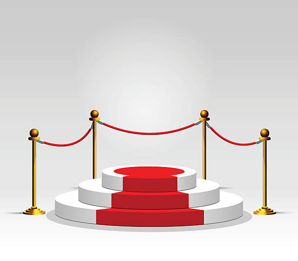 royalty free red carpet stairs clip art vector images