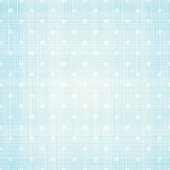 White polka dots on light blue canvas.