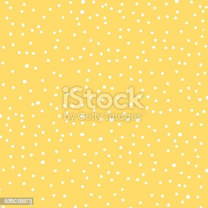 White Polka-Dots On Yellow