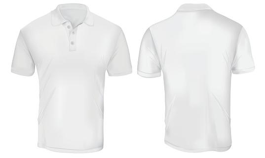 White Polo Shirt Template