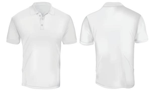인명별 폴로 셔츠 형판 - 셔츠 stock illustrations