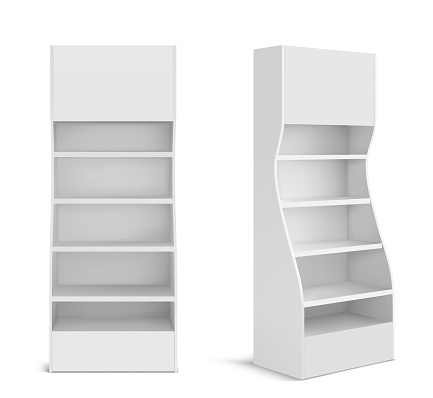 White POS display stand for supermarket