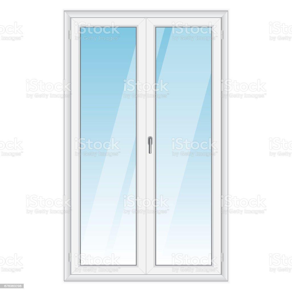 White PVC vector door vector art illustration