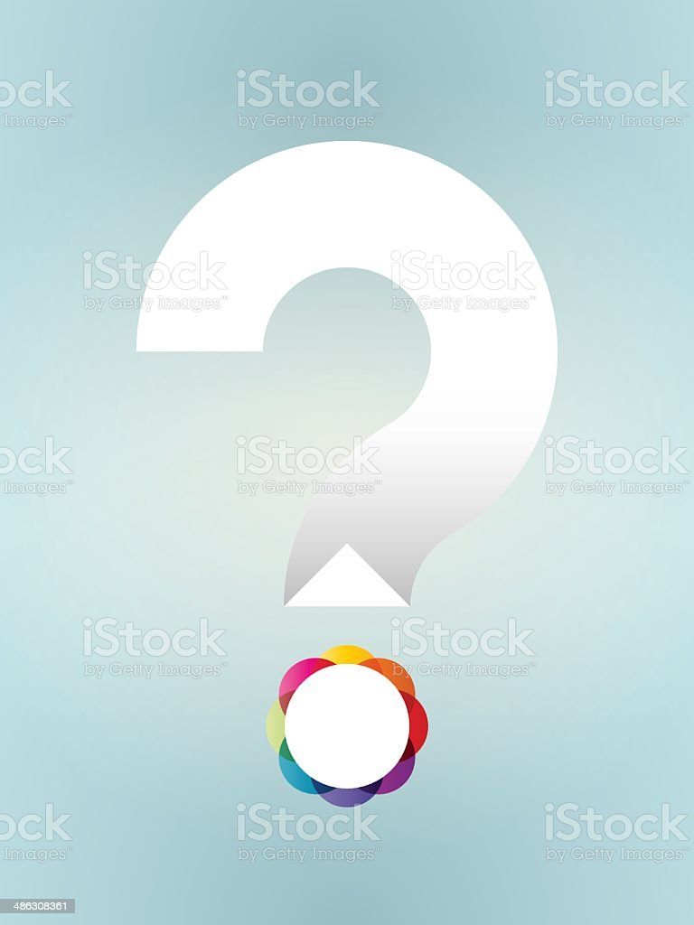 white question mark with colored dot royalty-free stock vector art