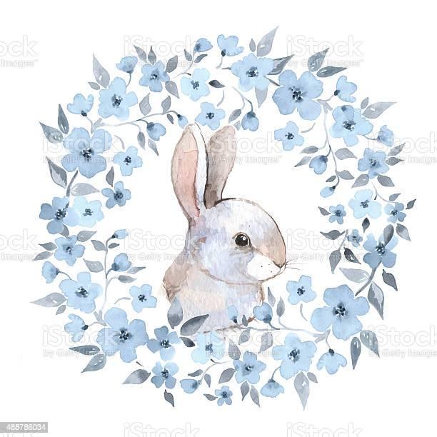 White rabbit 2 rabbit and floral wreath vector id488786034?b=1&k=6&m=488786034&s=612x612&h=wybjpo4vynuyozh8gztelna3xt9lxt22njxhgapm3xo=