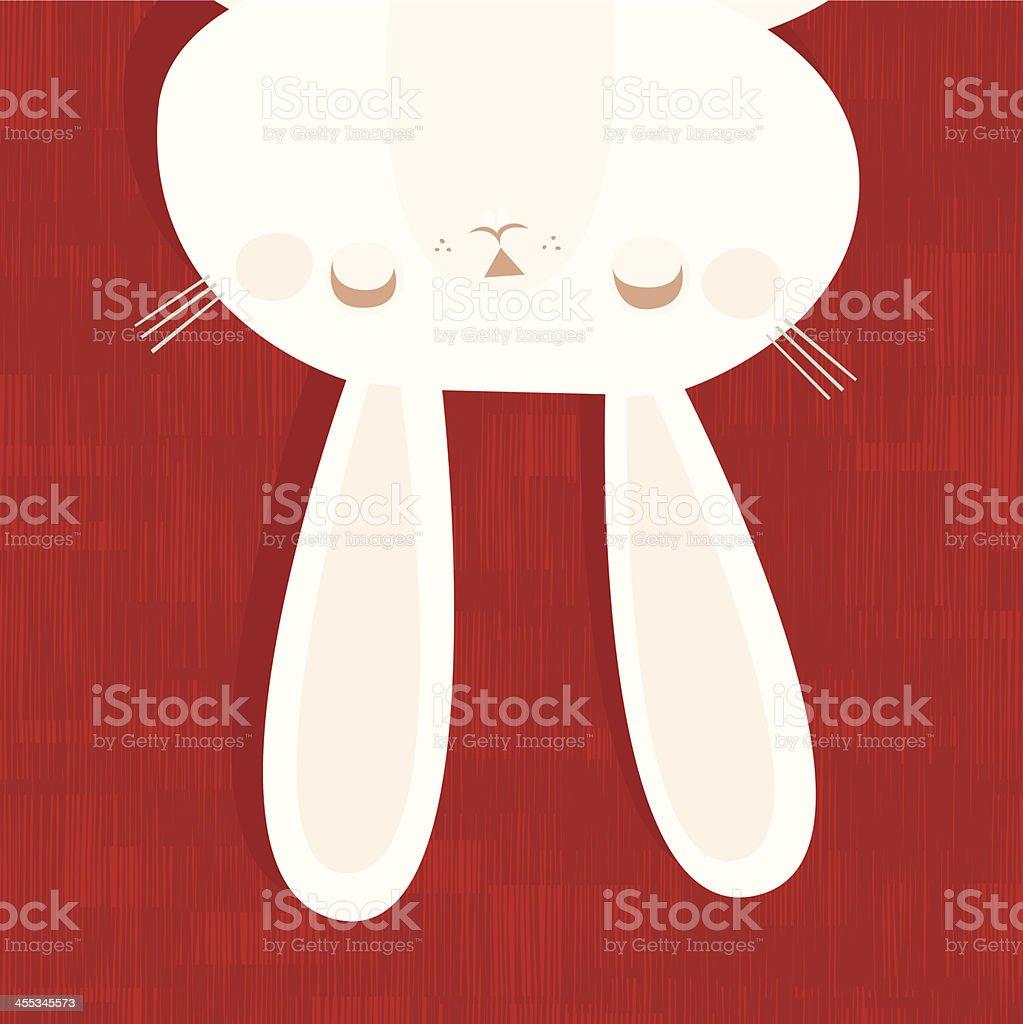 White Rabbit vector art illustration