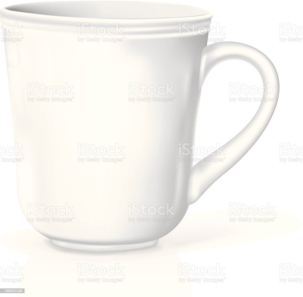 White realistic Coffee Cup vector art illustration