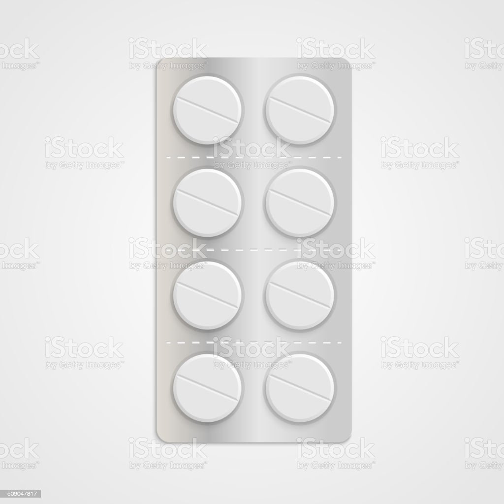 White realistic medical pills in blister pack. royalty-free white realistic medical pills in blister pack stock vector art & more images of addiction