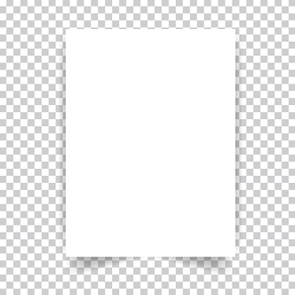 White realistic paper page.