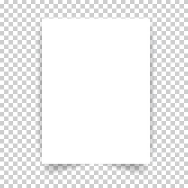белая реалистичная страница документа. - письмо документ stock illustrations