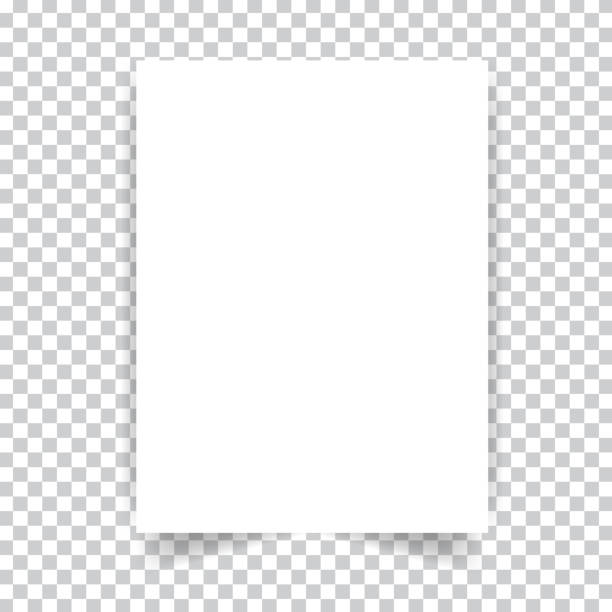 white realistic paper page. - notatka stock illustrations