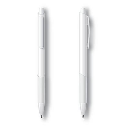 White Realistic Set Pen.