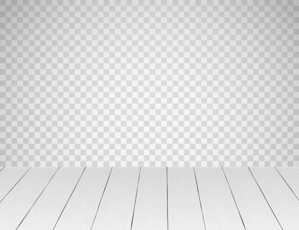 illustrazioni stock, clip art, cartoni animati e icone di tendenza di white realistic wooden table top or floor - tavolo legno