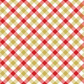 White red beige check plaid fabric texture seamless pattern