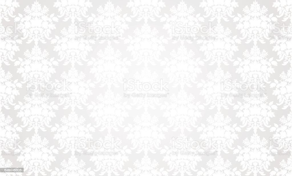 Fundo branco papel de parede retrô. - ilustração de arte em vetor
