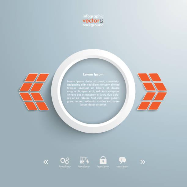 illustrations, cliparts, dessins animés et icônes de blanc orange flèches site web design template - pastille