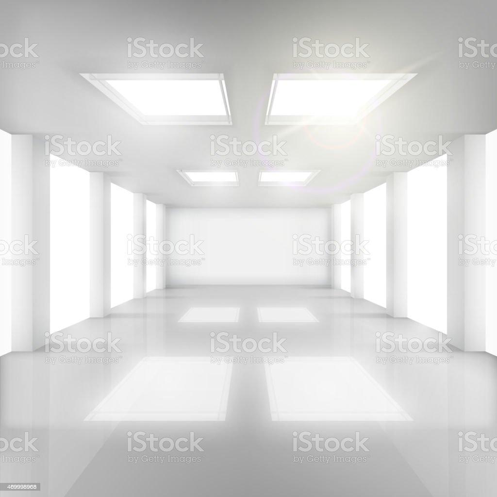 Weiße Zimmer mit Fenster und Wände und Decken. Lizenzfreies weiße zimmer mit fenster und wände und decken stock vektor art und mehr bilder von 2015