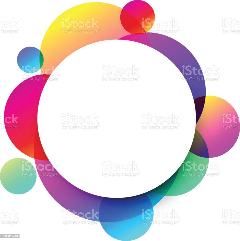 白の丸い背景色円に - お祝いのベクターアート素材や画像を多数ご用意
