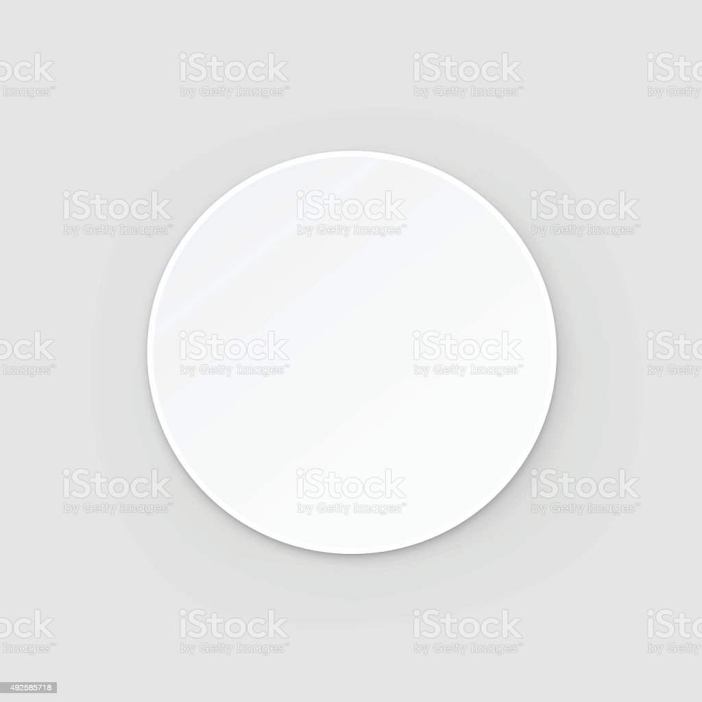 White Round Blank Beer Coaster Vector Isolated Illustration vector art illustration