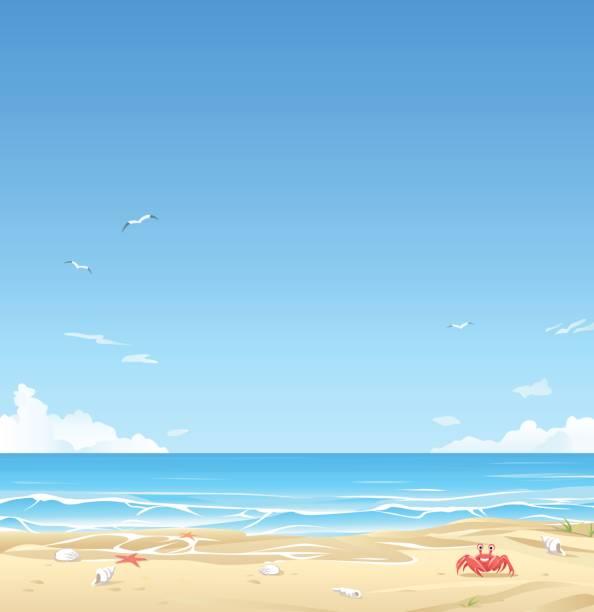 white sand beach  - strand stock-grafiken, -clipart, -cartoons und -symbole