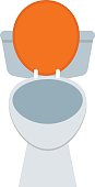 White sanitary clean toilet bowl in bathroom bath design washroom