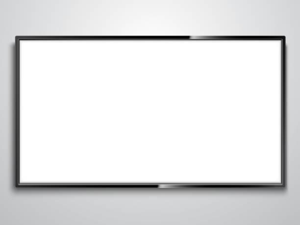white screen tv - телевизионная индустрия stock illustrations