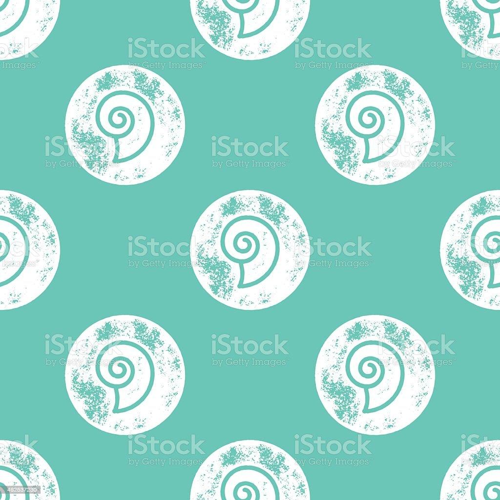 Bianco Conchiglia Di Mare Su Sfondo Verde Motivo Immagini