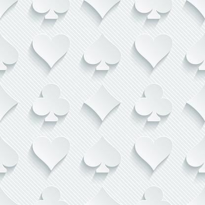 White seamless 3D wallpaper pattern