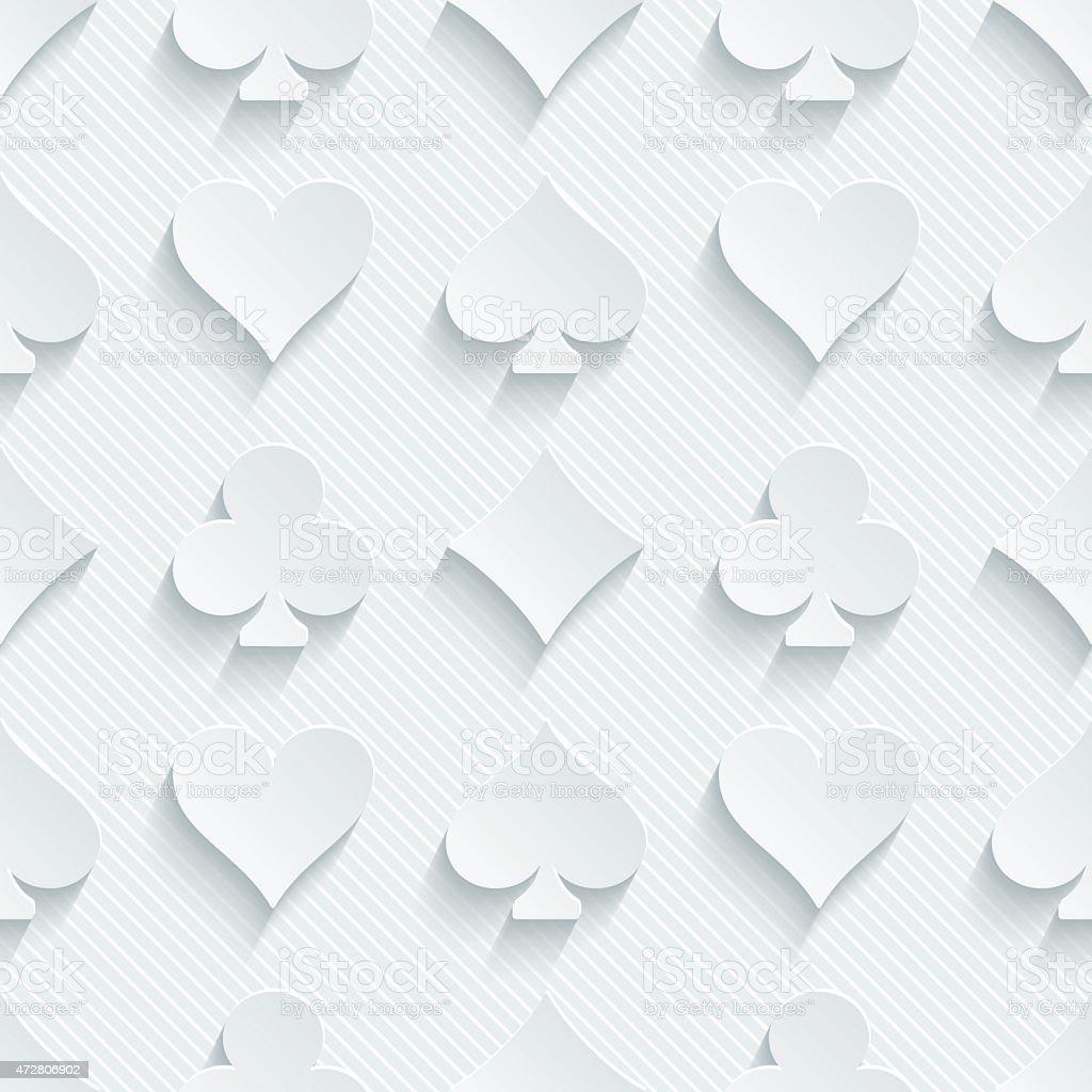 White seamless 3D wallpaper pattern vector art illustration