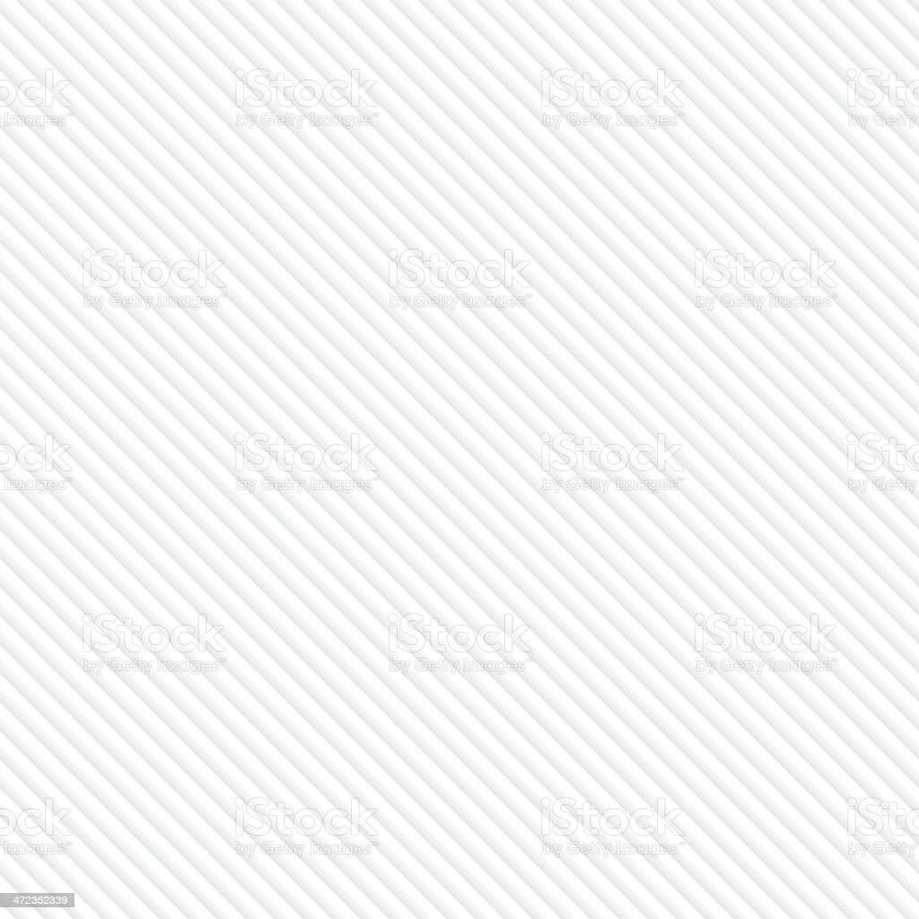 White seamless pattern with diagonal lines vector art illustration