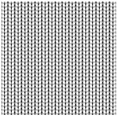 White seamless texture of knitting woolen clothes. Christmas Red Knitted Pattern. Vector illustration.