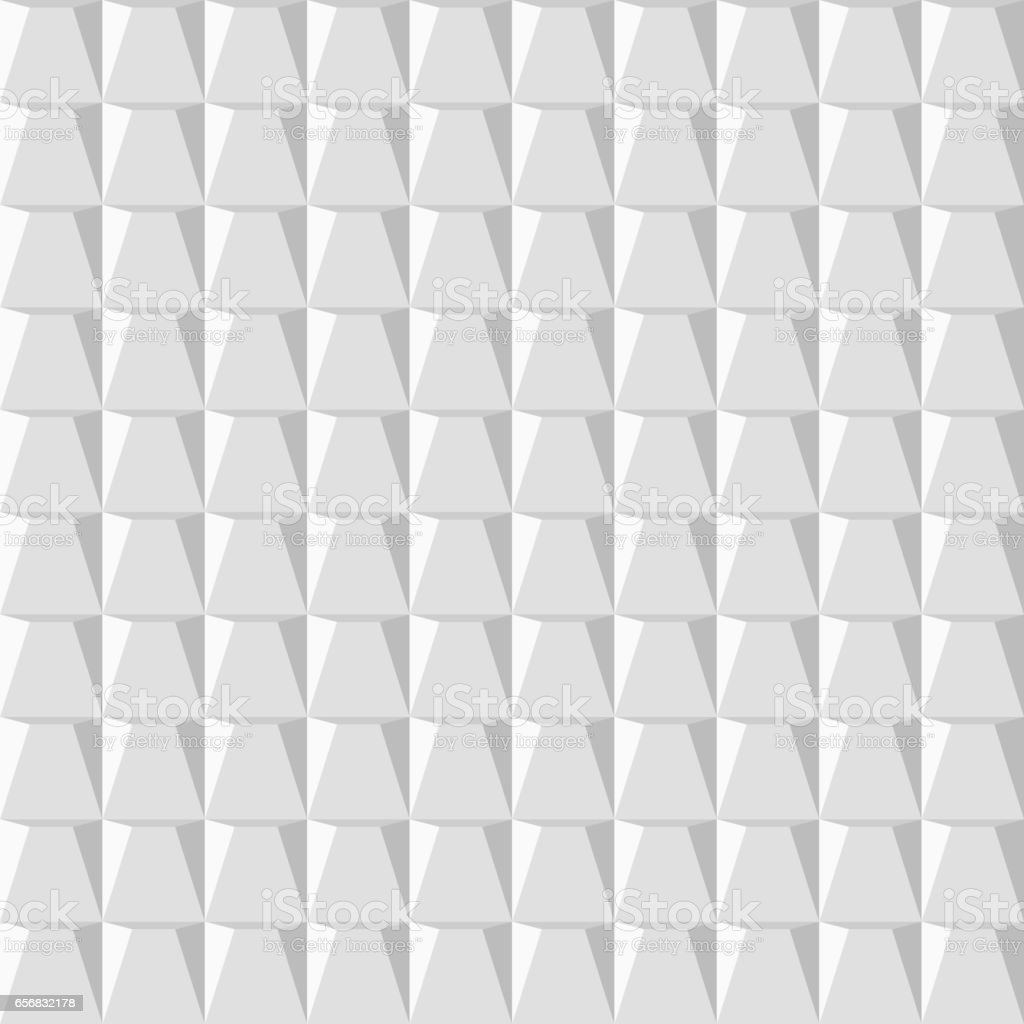White Seamless Texture. Wavy Background. Interior Wall Decoration. 3D  Vector Interior Wall Panel
